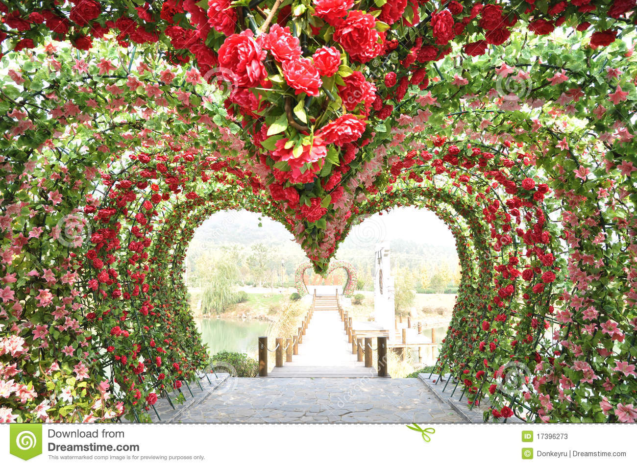 Rose Heart Shape Door Stock Image Image Of Scene Love
