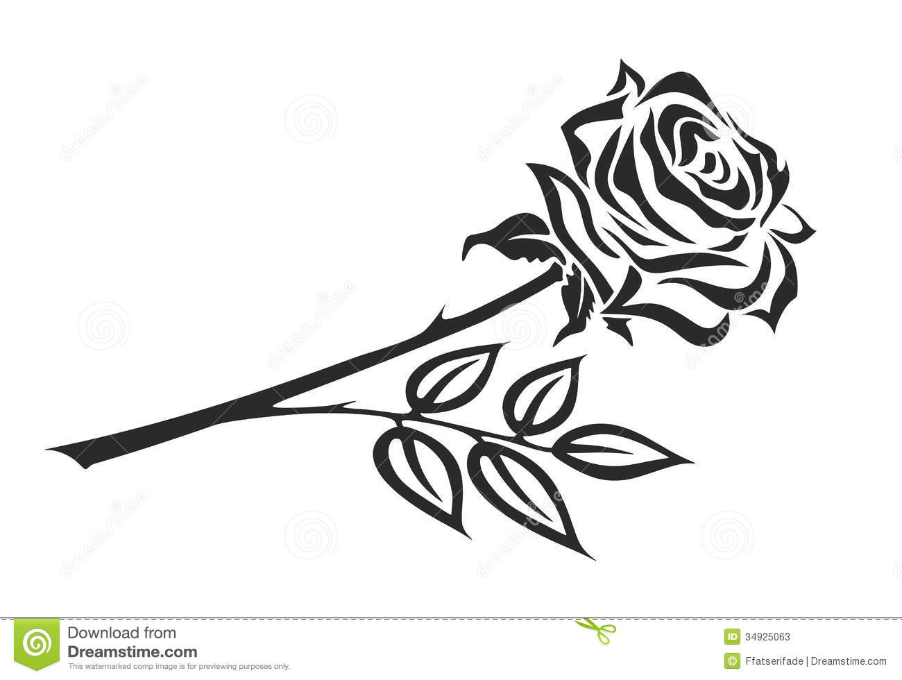 clipart roses black and white - photo #35