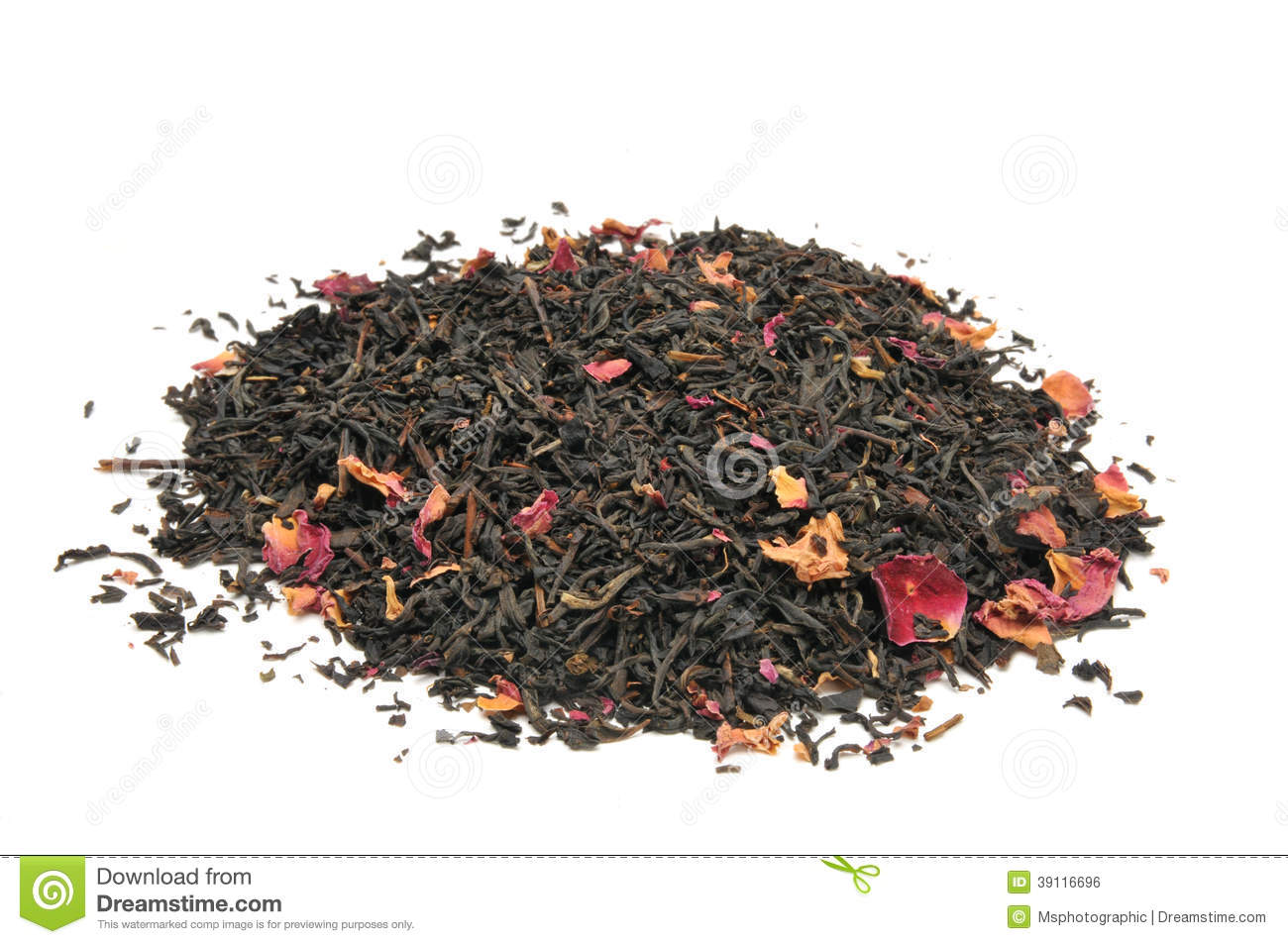 Rose infused black tea stock photo  Image of ingredient