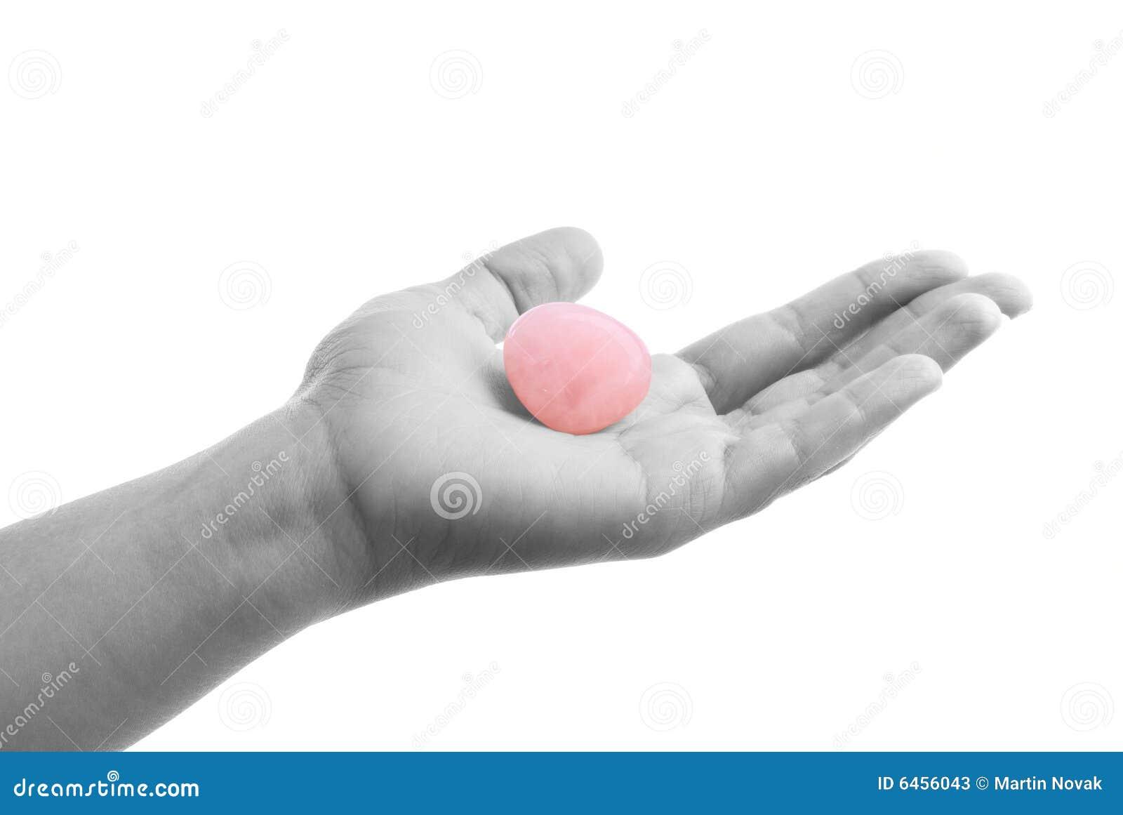 Rose kwarcu ręce