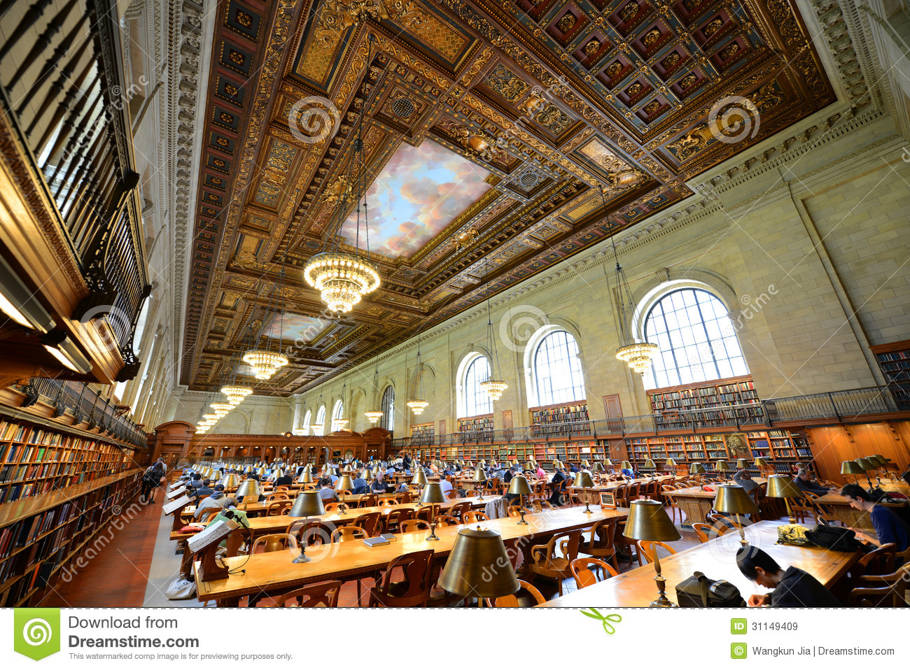 Rose Main Reading Room New York Public Library Editorial