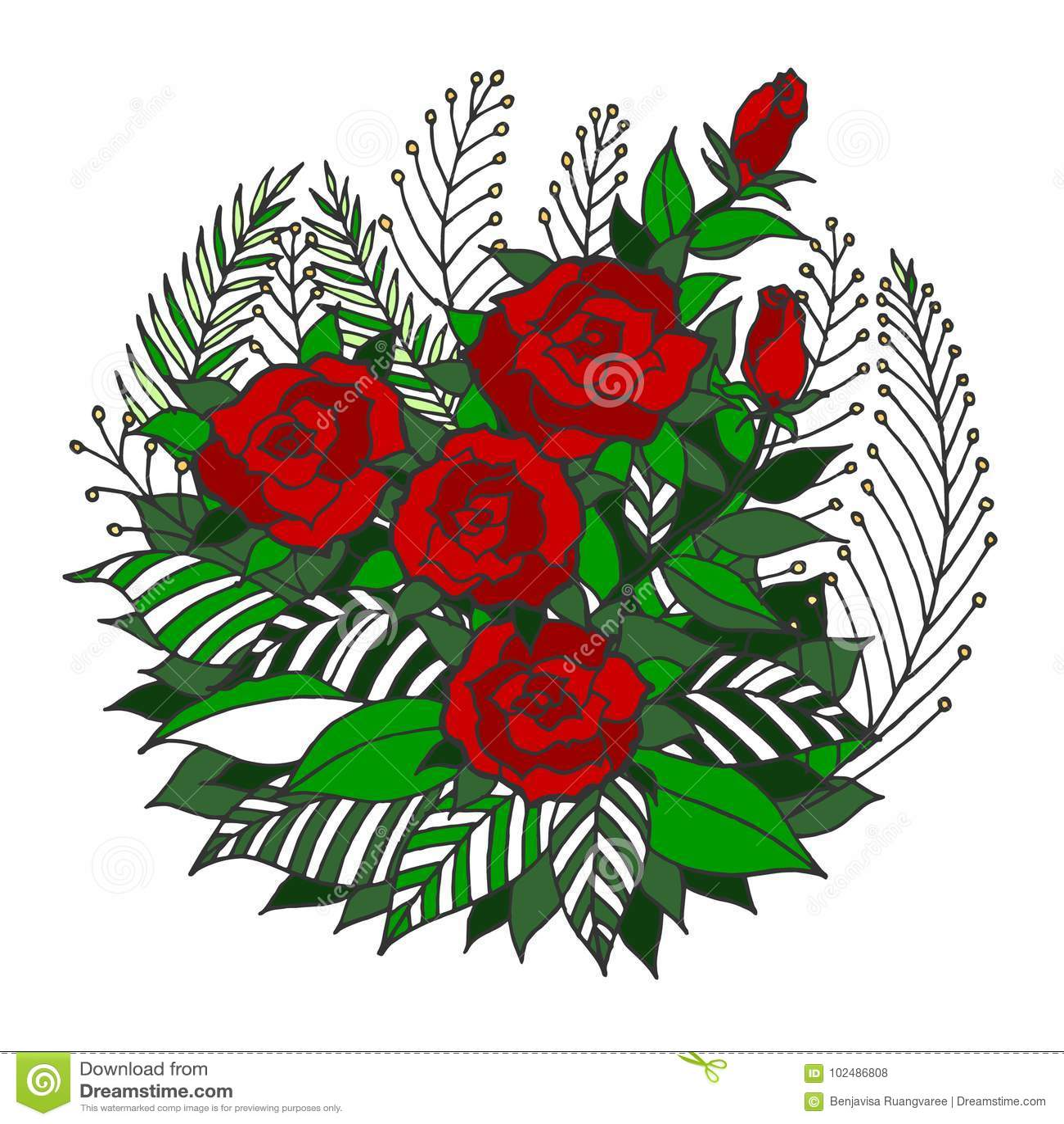 Rose Mandala Icon Symbol Logo Flower Floral Leaf Vector Hand