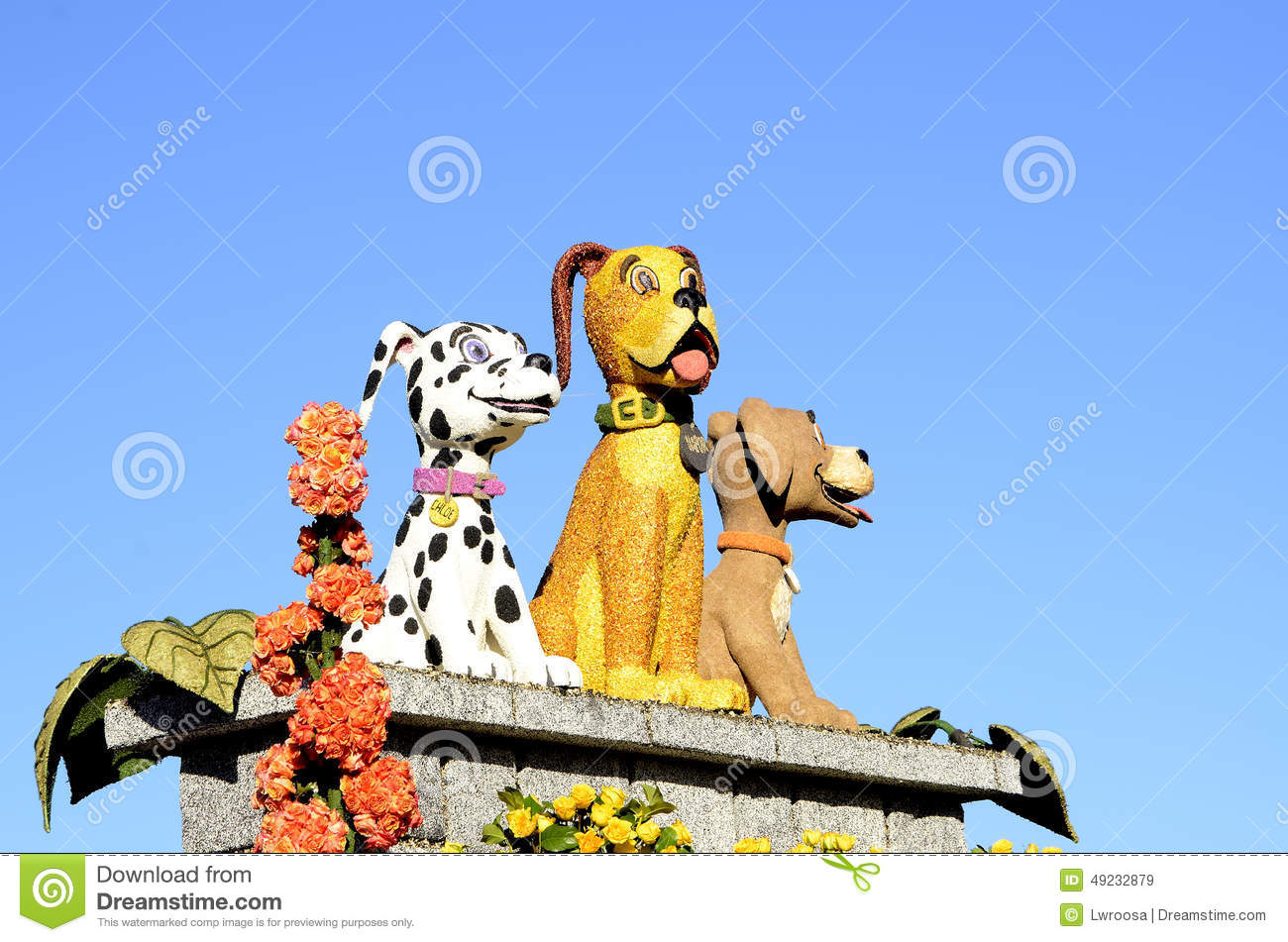 Rose Parade Dogs editorial stock image  Image of 2015 - 49232879