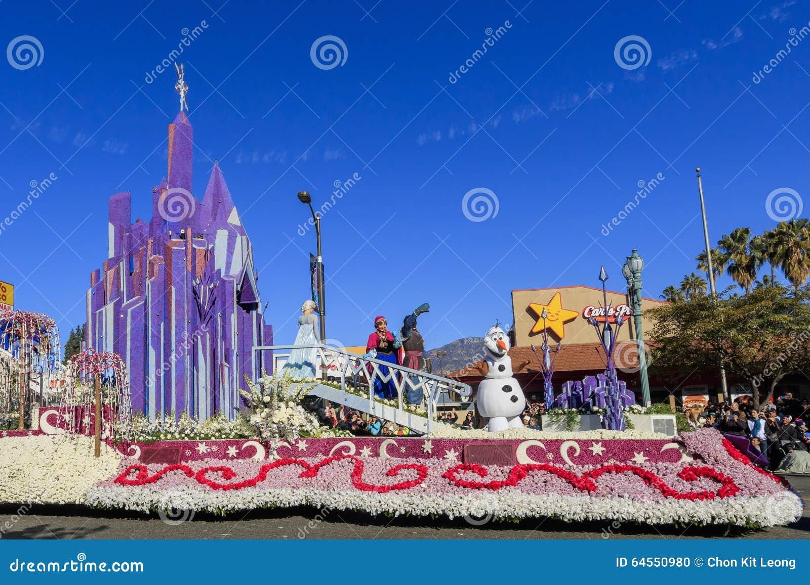 Rose Parade przy Pasadena, Kalifornia, usa - Styczeń 1, 2016