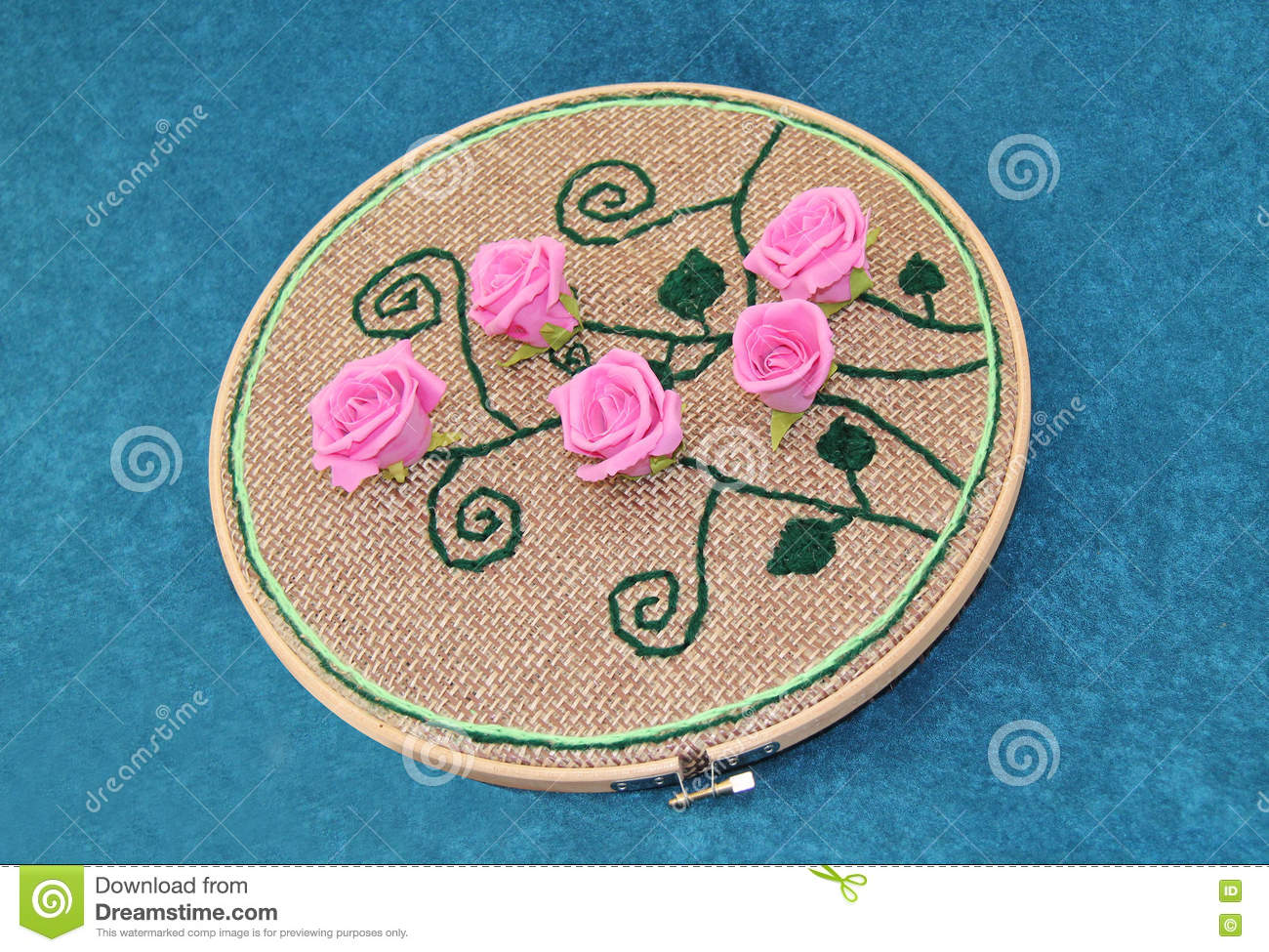 Rose Pattern Embroidery