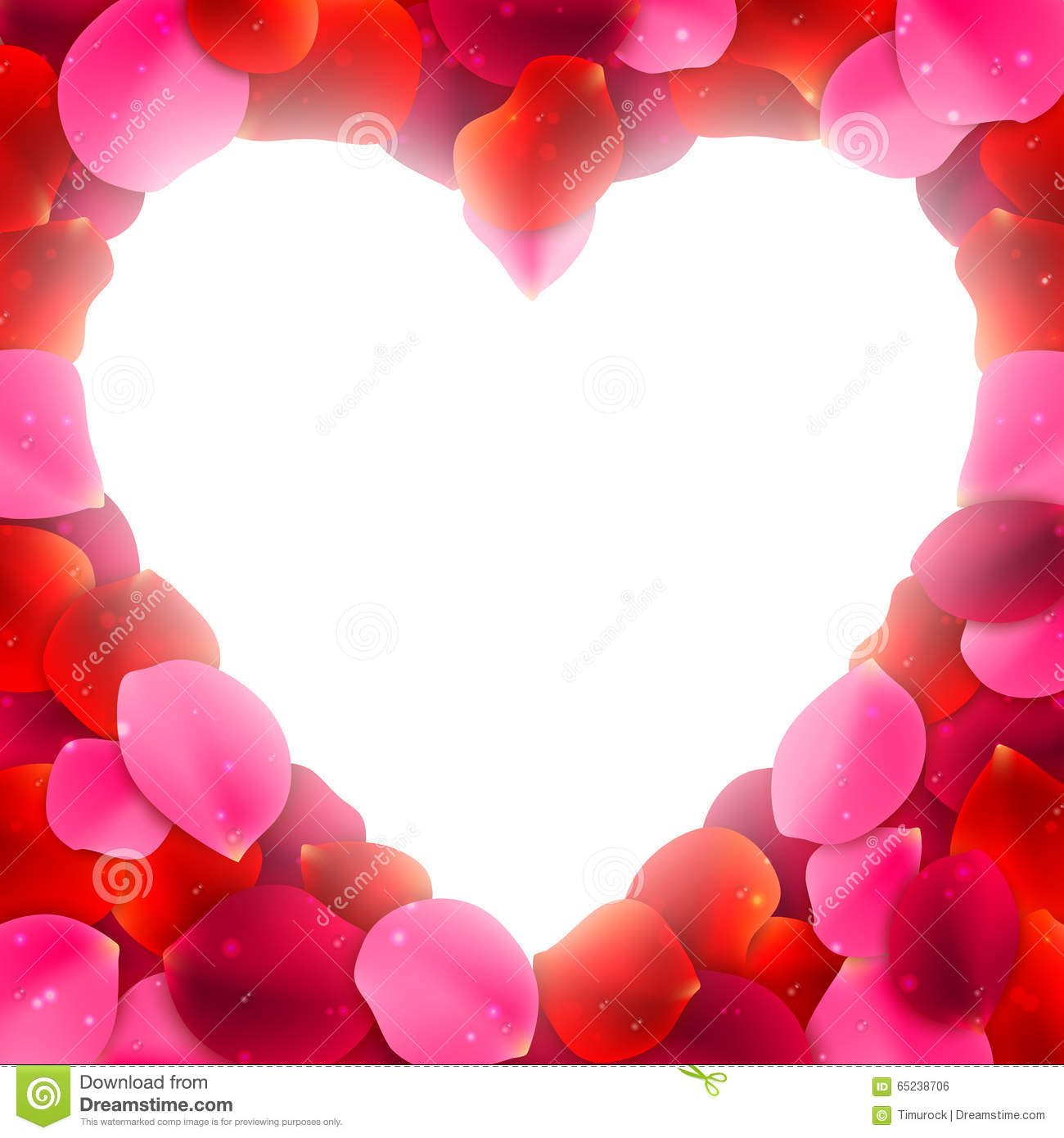 rose petals frame royalty free stock image