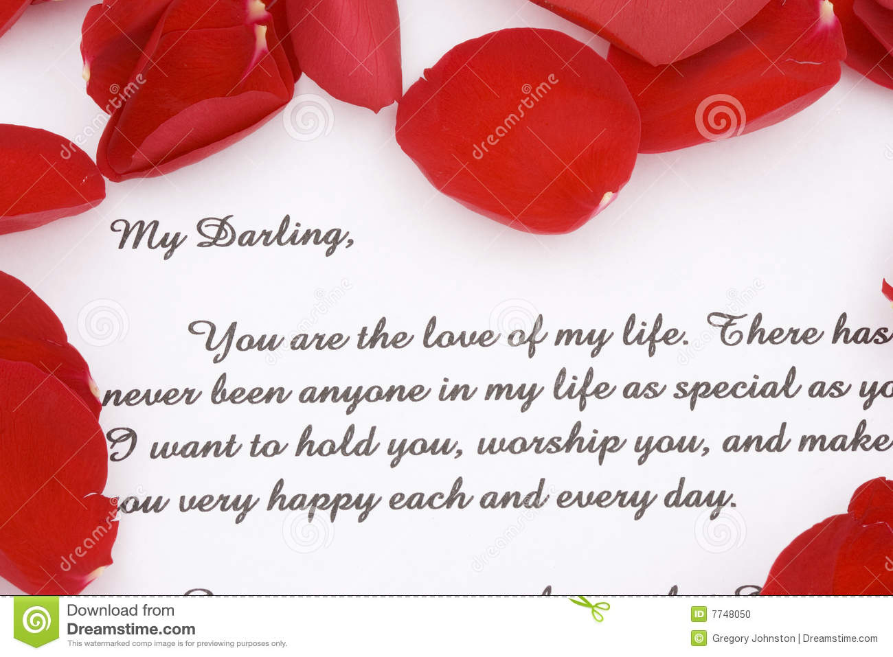 Rose Petals And A Love Letter Stock Photo Image Of Paper Note