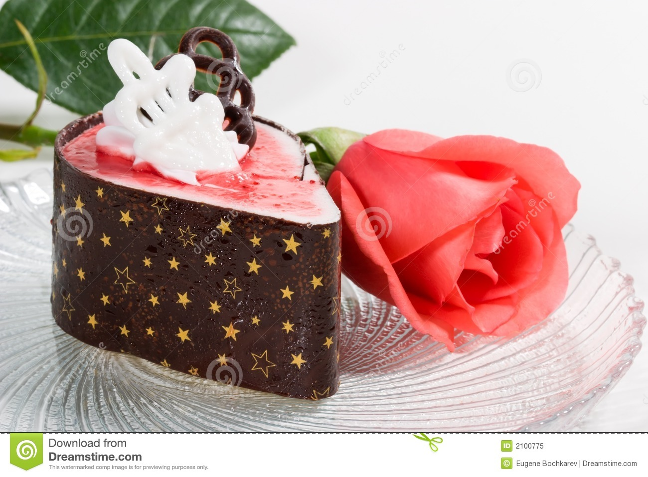 Rose And Raspberry Souffle Cake Royalty Free Stock Photo ...