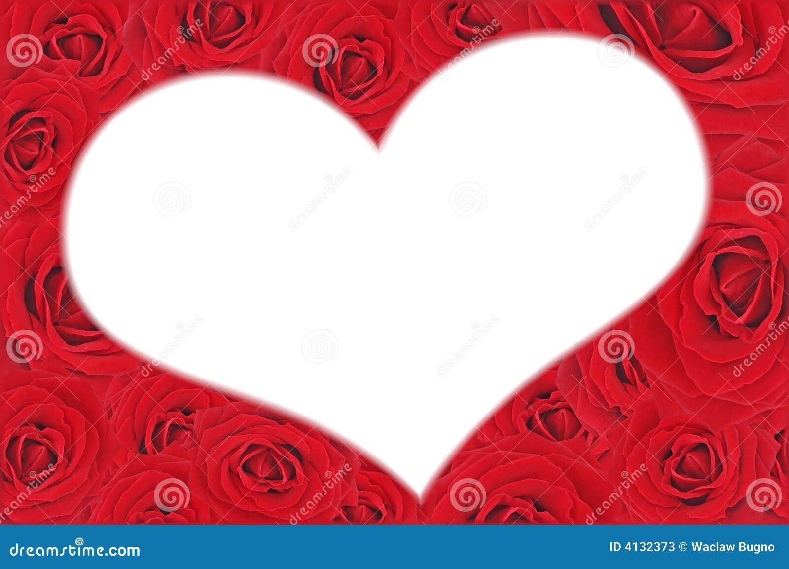 Priorità bassa rossa piacevole delle rose e figura bianca di cuore.