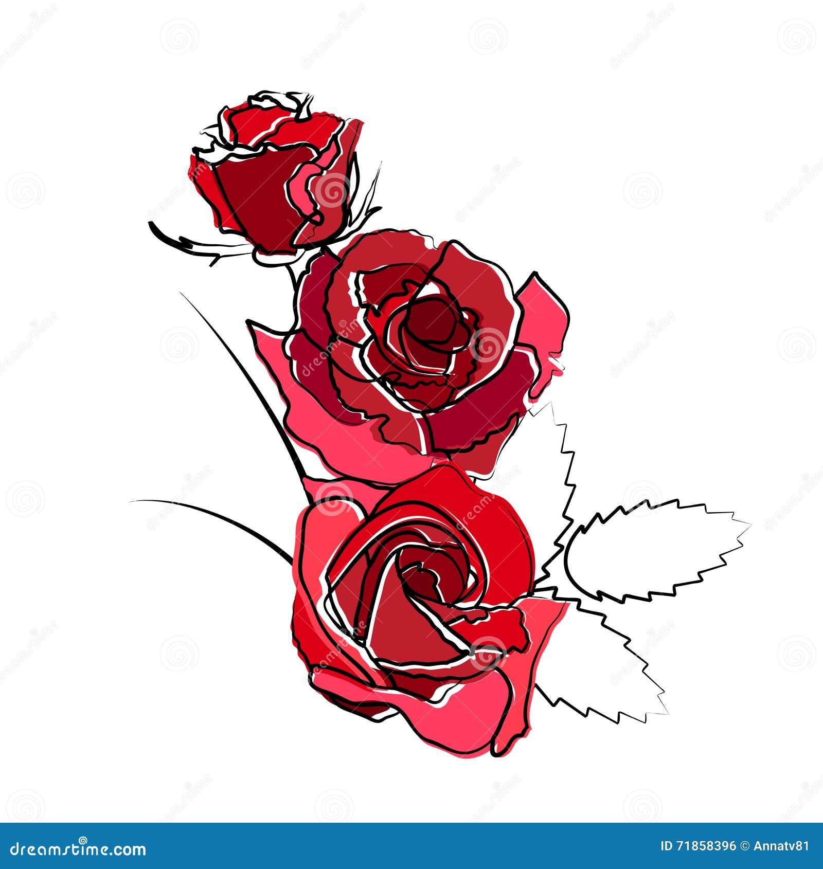 Disegni Di Rose Stilizzate