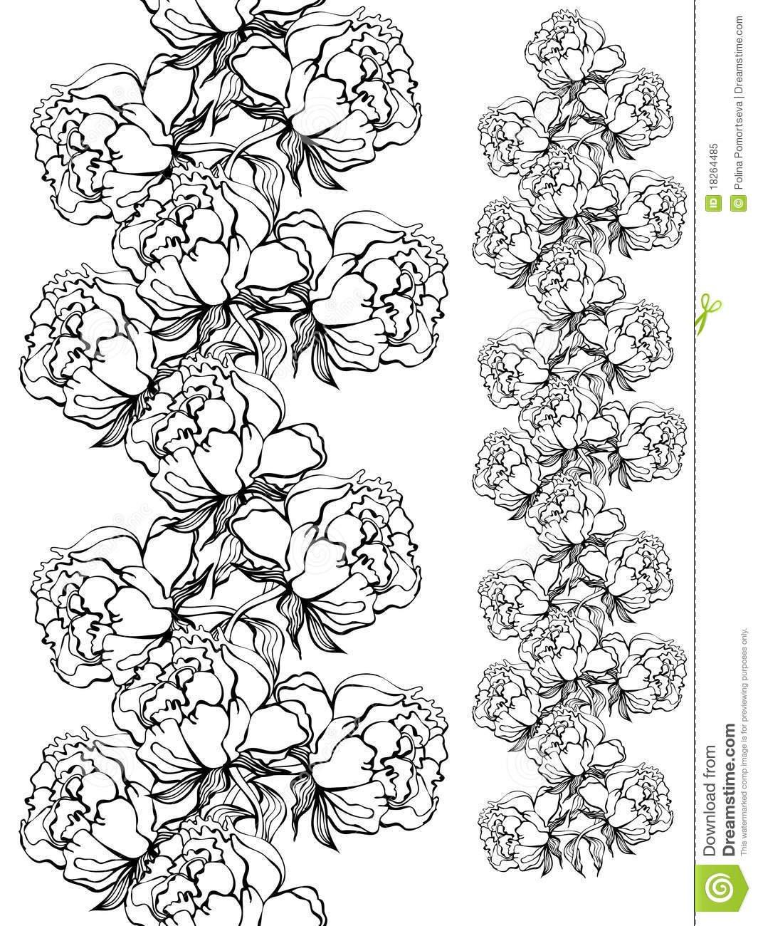how to draw a simple rose bush