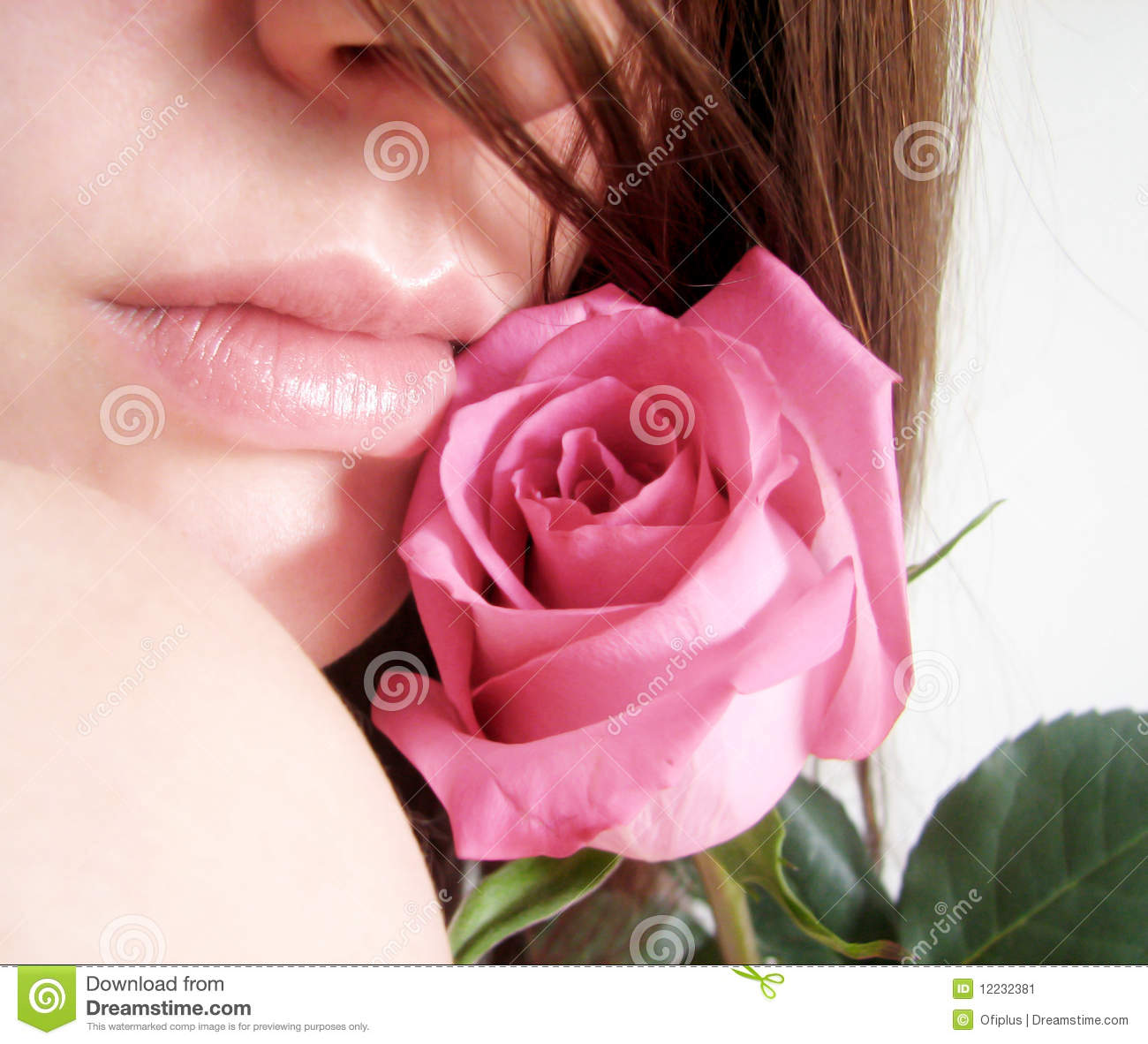Rose And Sensual Lips Stock Image - Image: 12232381