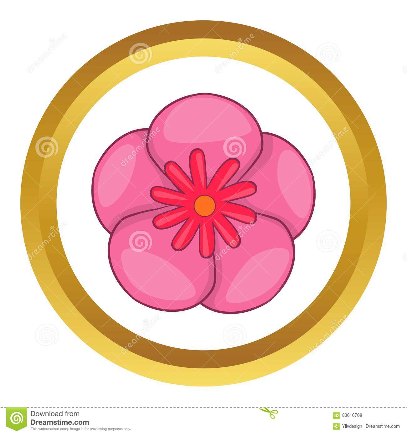Rose of sharon korean flower icon cartoon style stock vector rose of sharon korean flower vector icon royalty free stock photos dhlflorist Images
