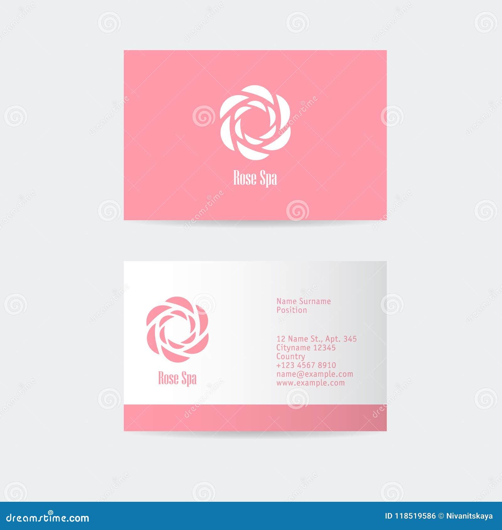rose spa logo beauty or cosmetics logo female glamour emblem