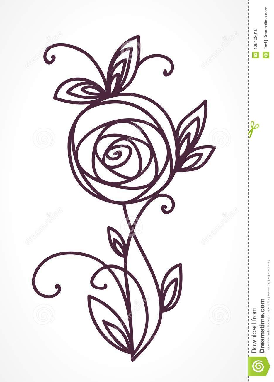 Rose stylized flower bouquet hand drawing stock vector stylized flower bouquet hand drawing stock vector illustration of fashion branch izmirmasajfo