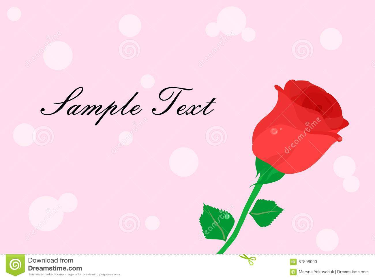Rose template pink
