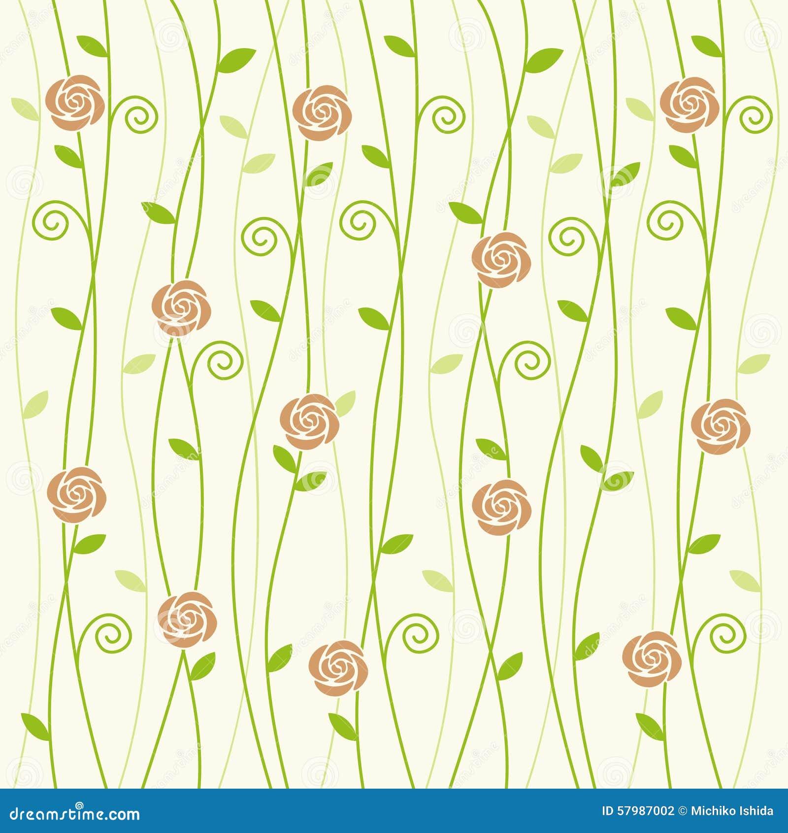 rose and vine background pattern stock vector image 57987002. Black Bedroom Furniture Sets. Home Design Ideas