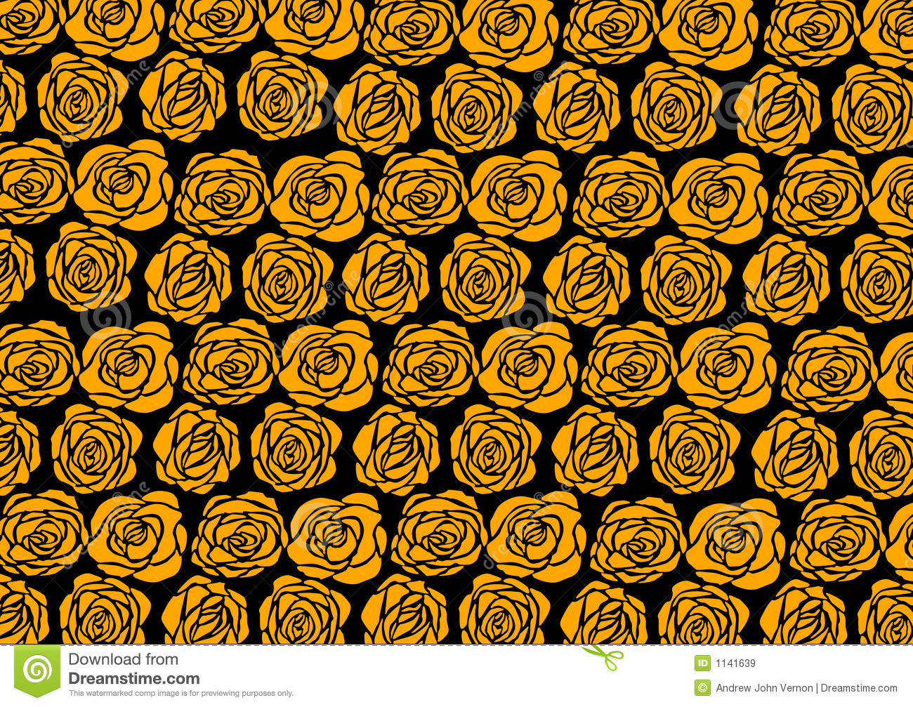 Rose Wallpaper Stock Vector Illustration Of Golden Funk
