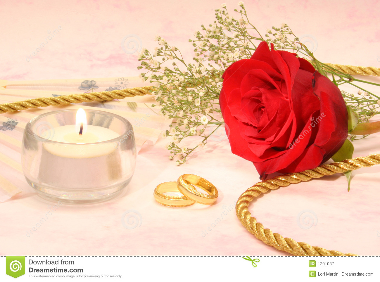 Rose With Wedding Bands