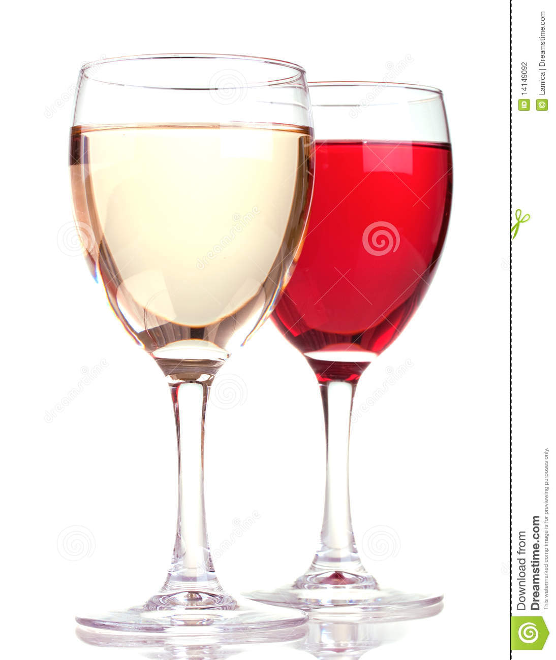 Rose and white wine in a wine glasses stock photography for Cocktail 0 base de vin blanc