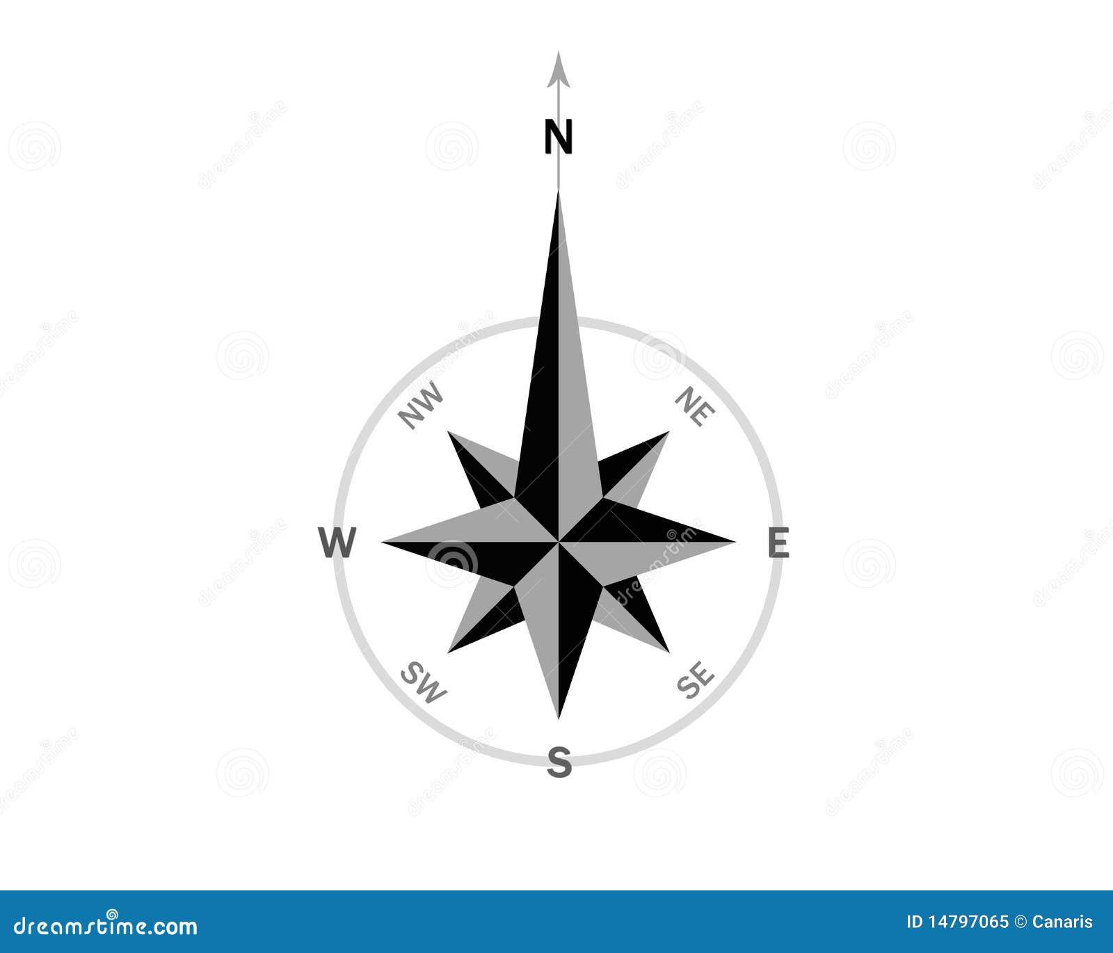 North Arrow Architecture Vector