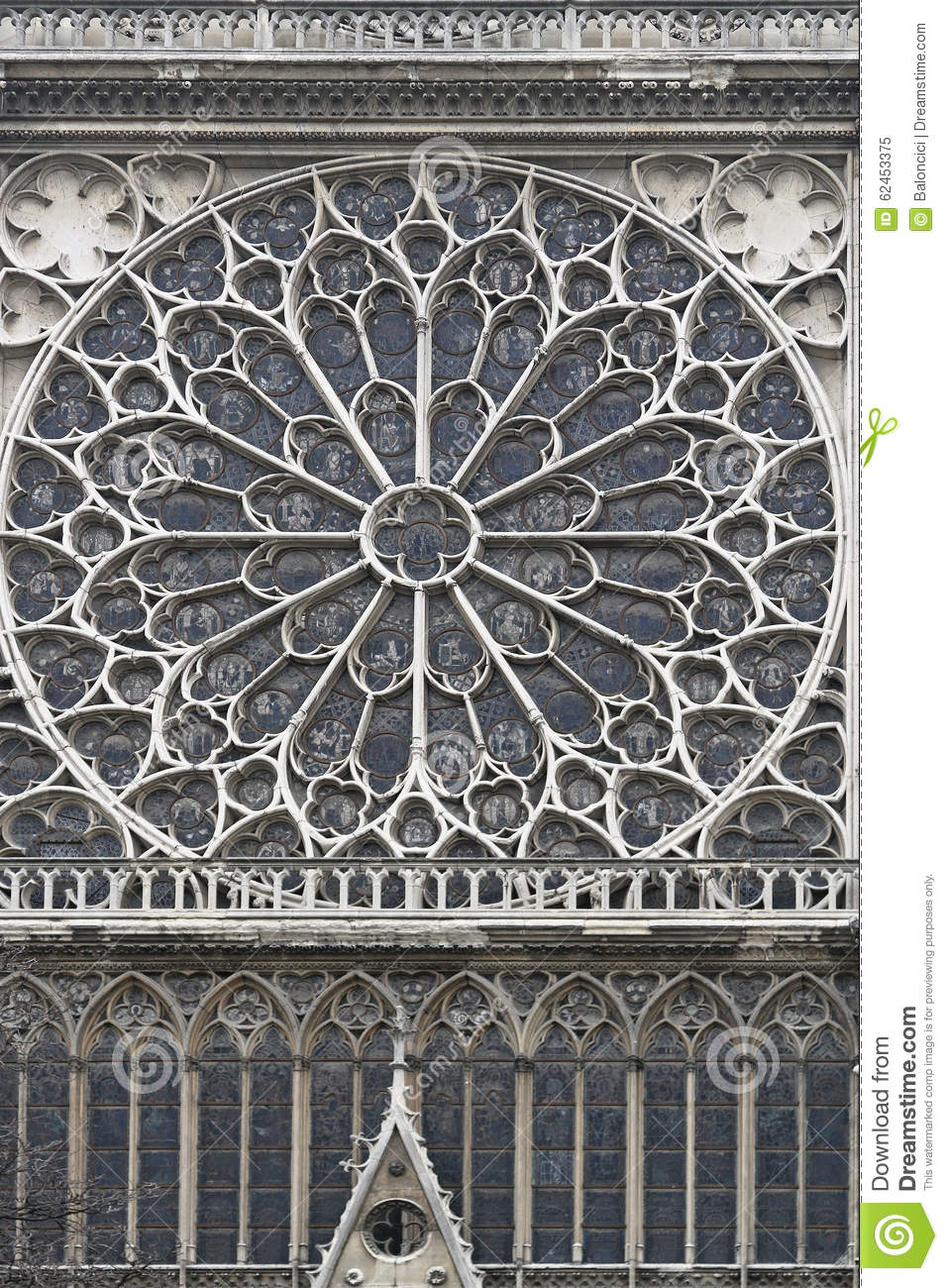 Rose Window Notre Dame Stock Image Of Gothic