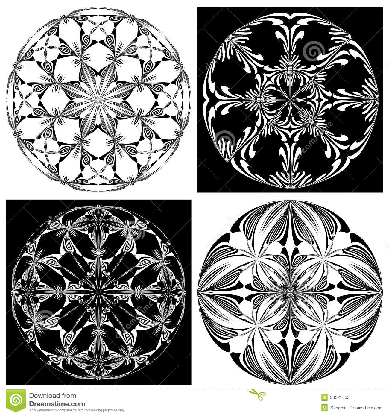 Rose Window Set Stock Vector Illustration Of Ancient
