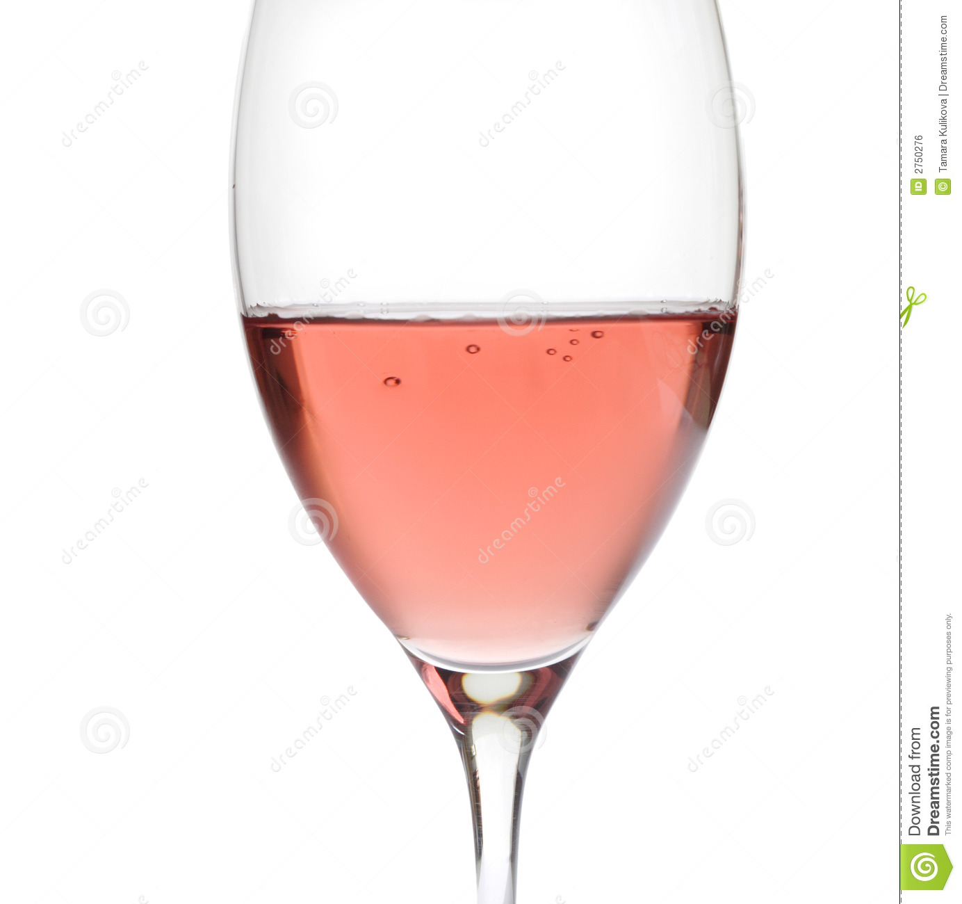 Rose Wine In Crystal Glass Royalty Free Stock Image - Image: 2750276