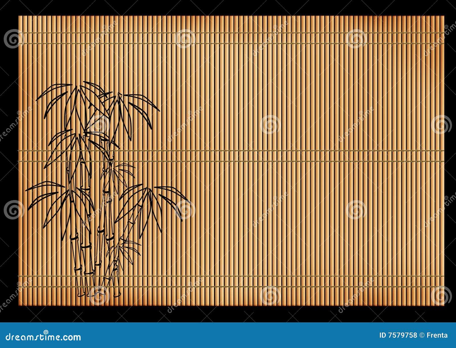 roseau japonais antique de couvre tapis photos libres de droits image 7579758. Black Bedroom Furniture Sets. Home Design Ideas