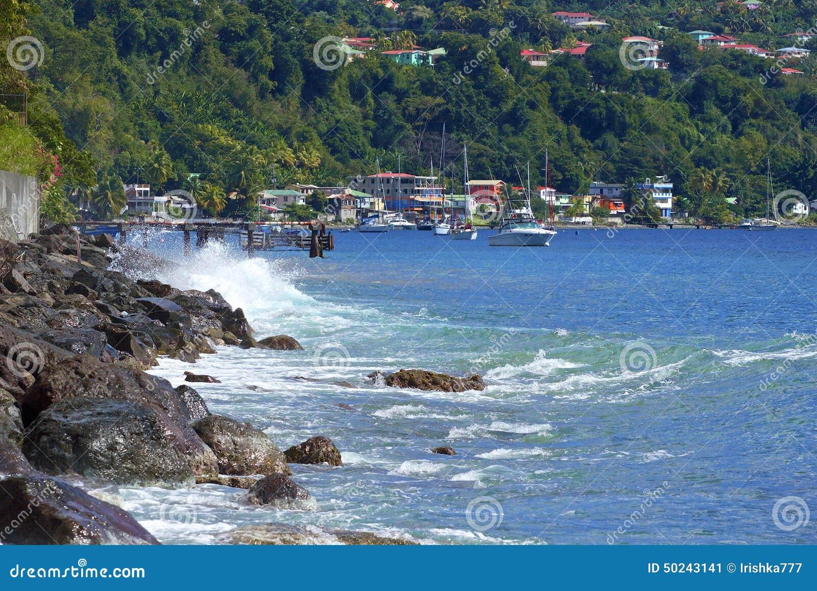 Roseau nabrzeże, Dominica, Karaiby