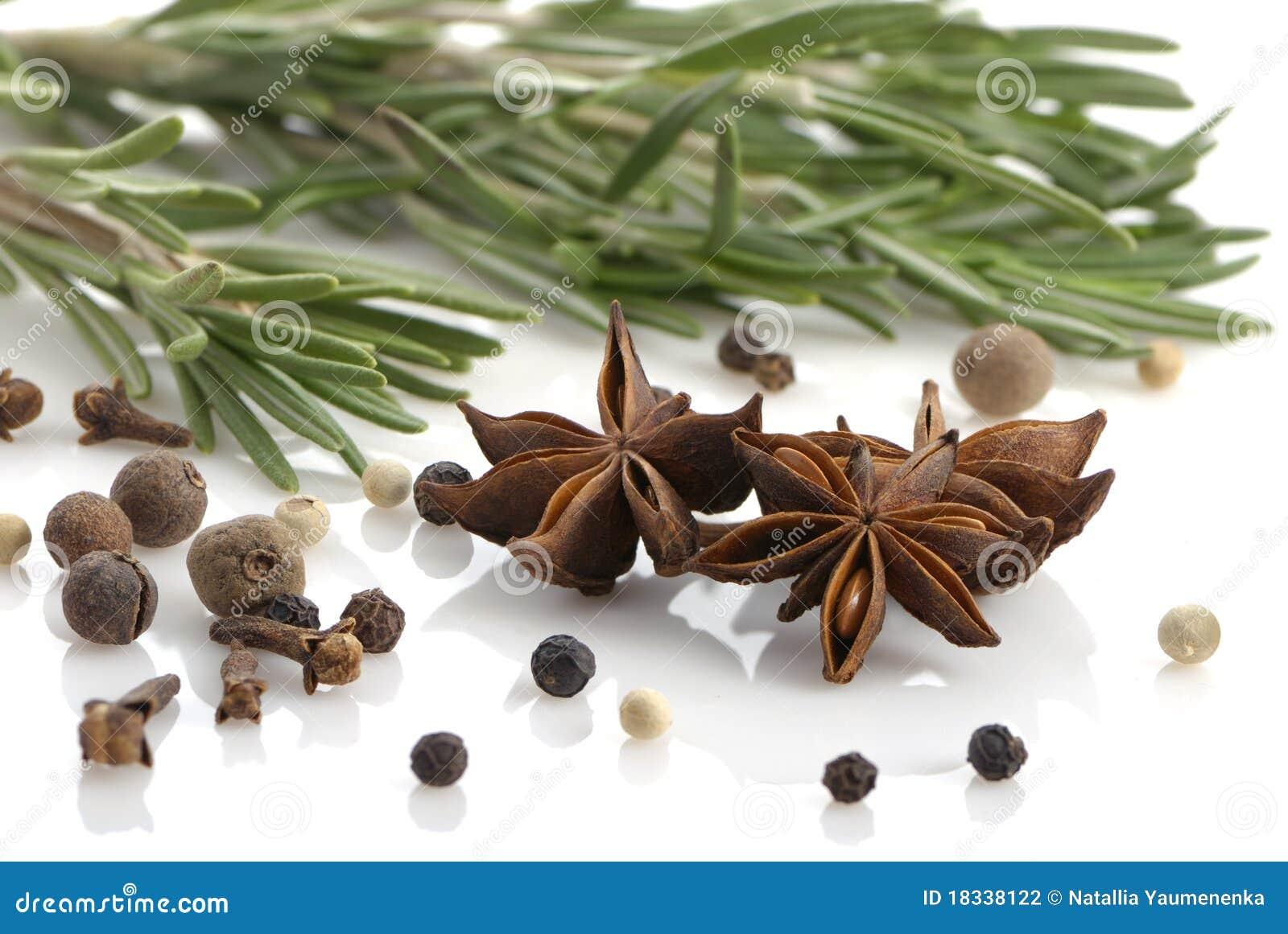 Rosemary, granello di pepe, chiodi di garofano ed anice