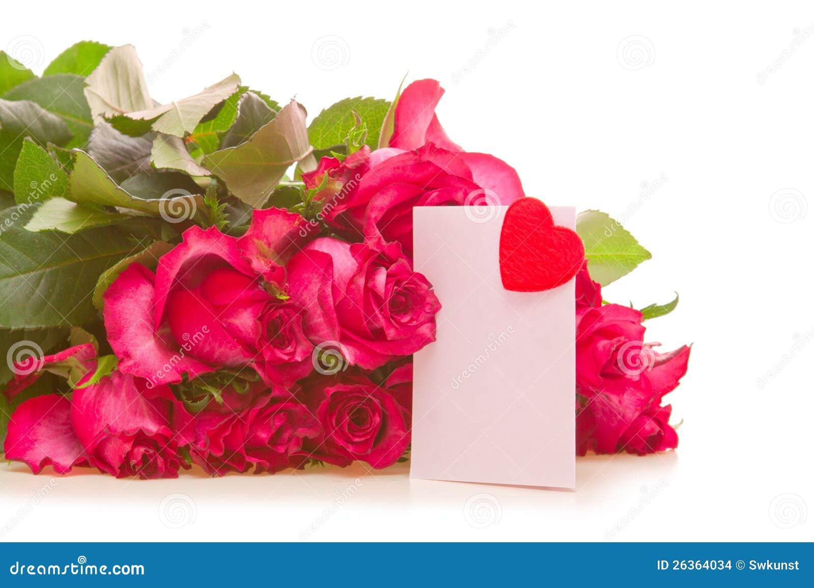 Rosen-Blumenstrauß mit Kupons