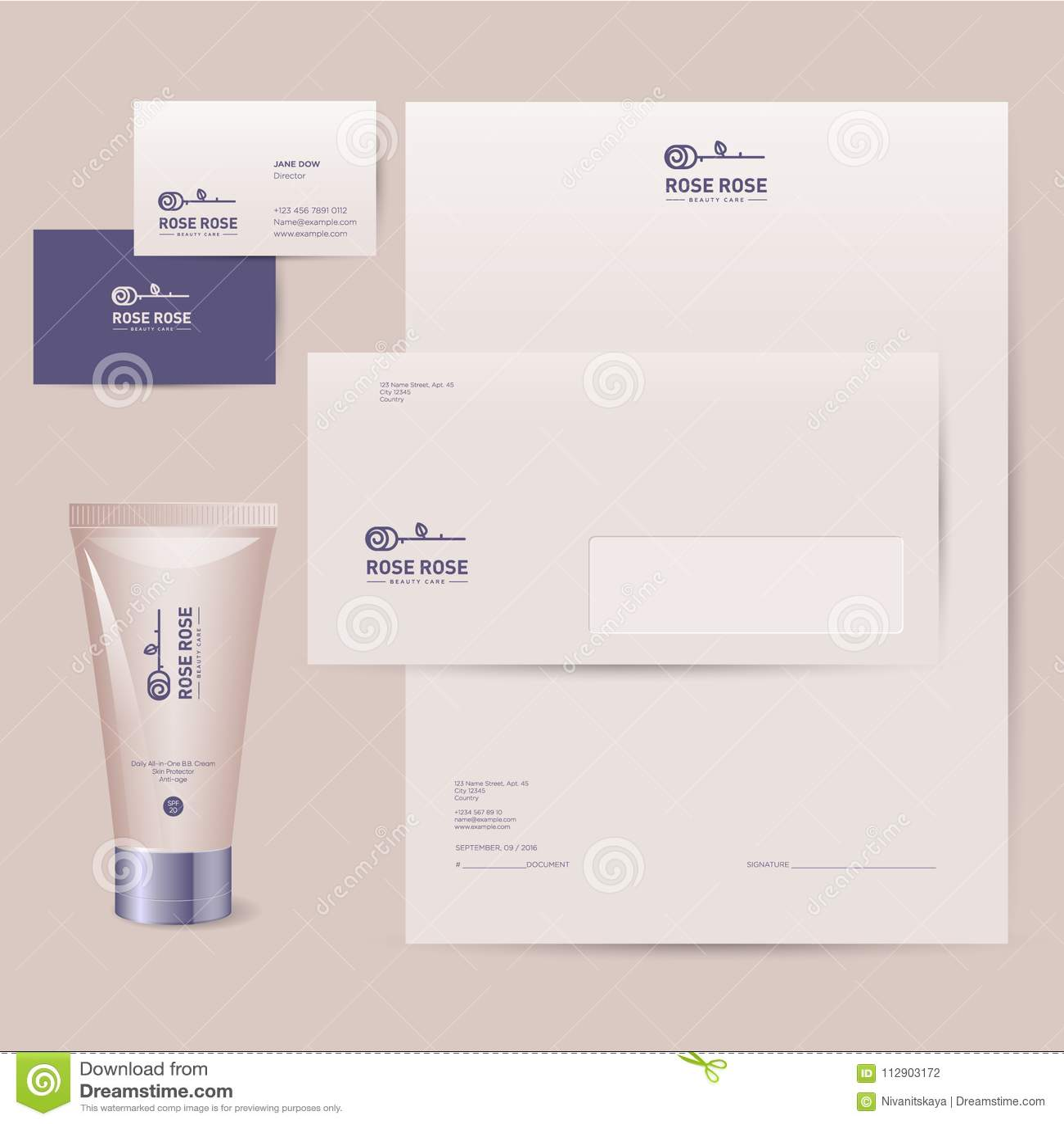 Rosen Logo Unternehmensidentitä5 Der Kosmetikmarke