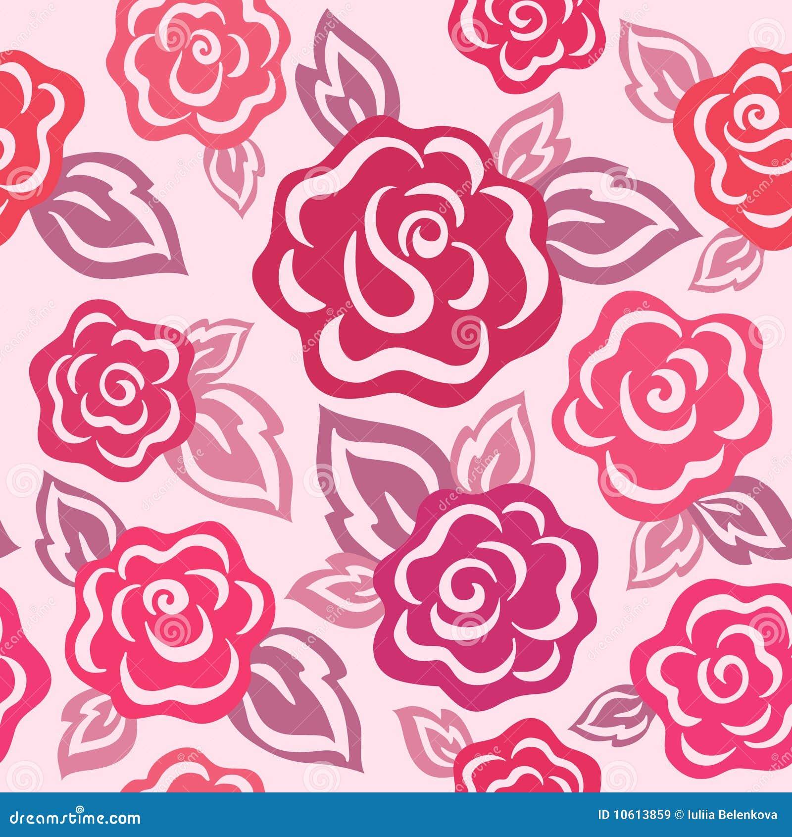 Rosen-nahtloses Muster