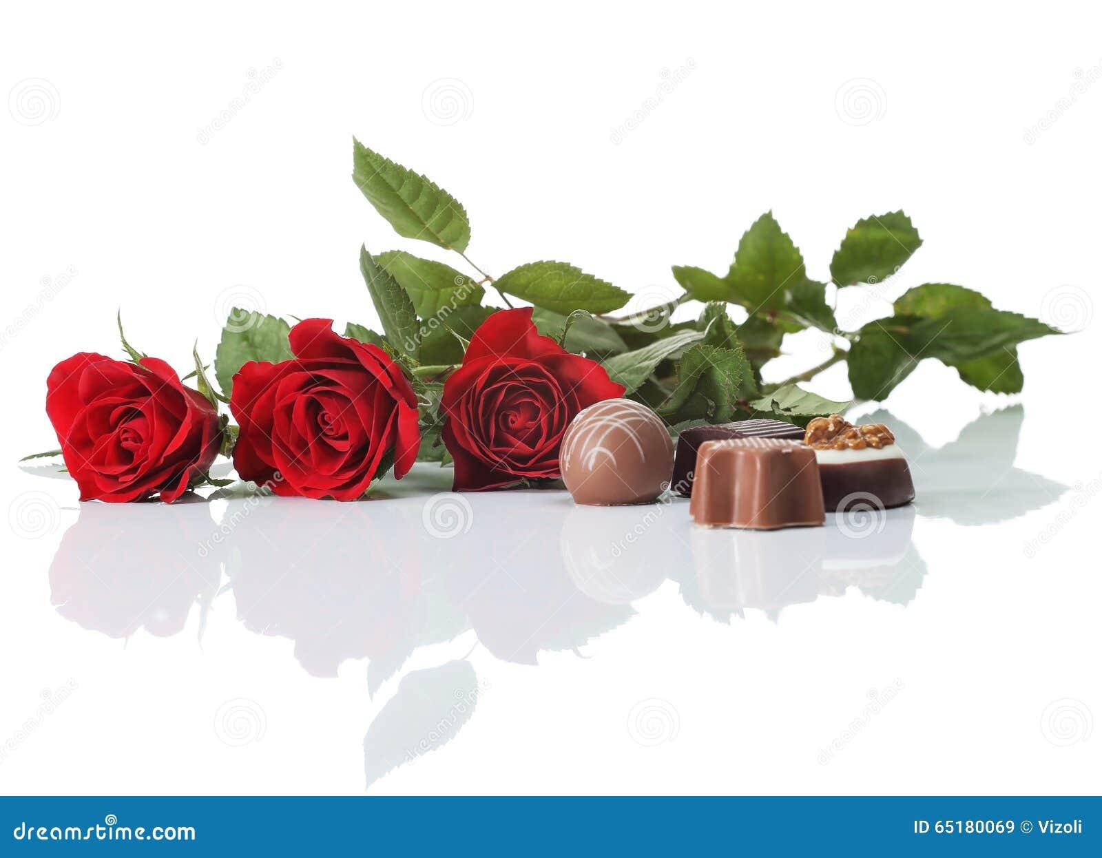 Rosen und Schokolade