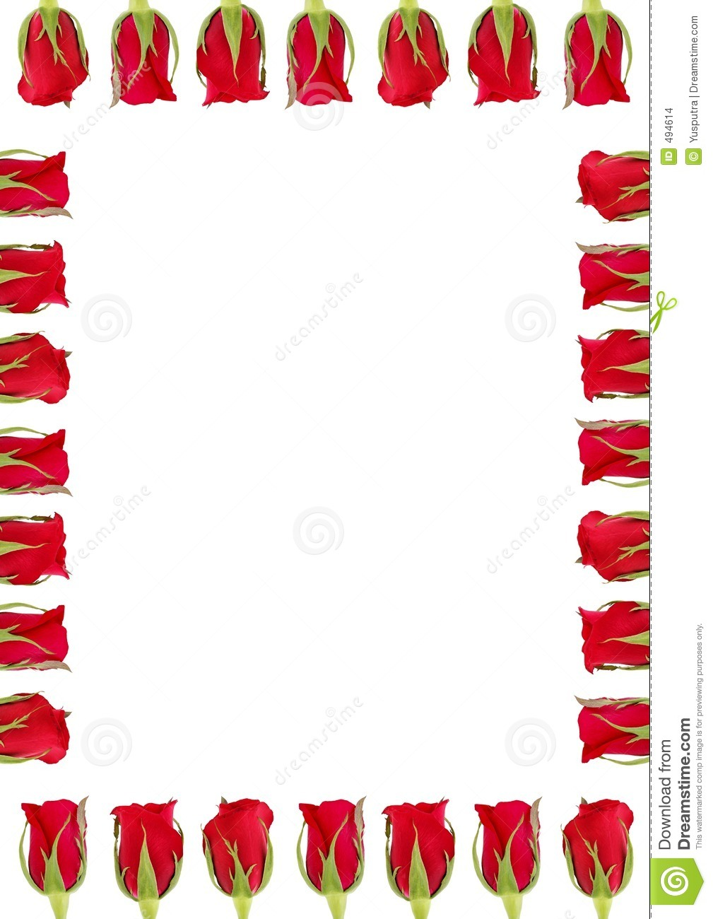 Roses A4 Stock Images - Image: 494614