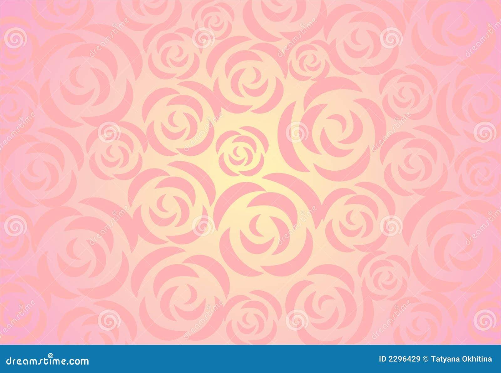 Roses Background Stock Illustration Image Of Pink