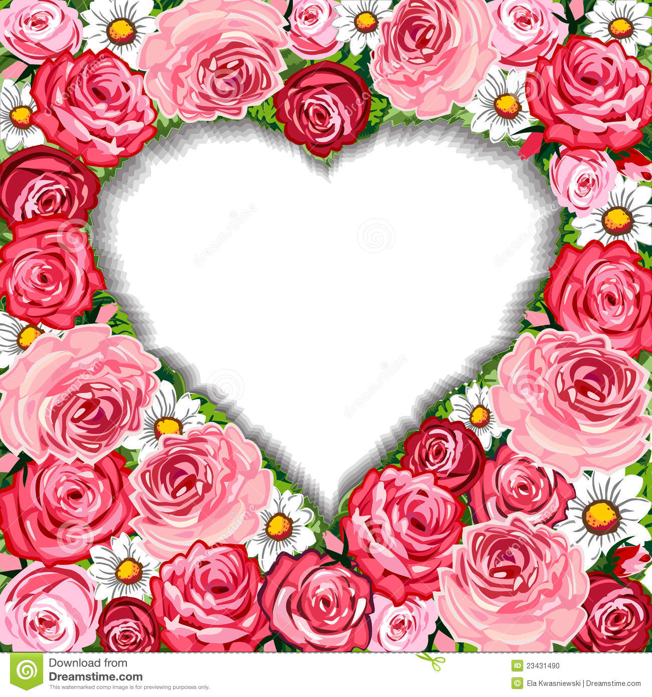 heart and roses background - photo #41