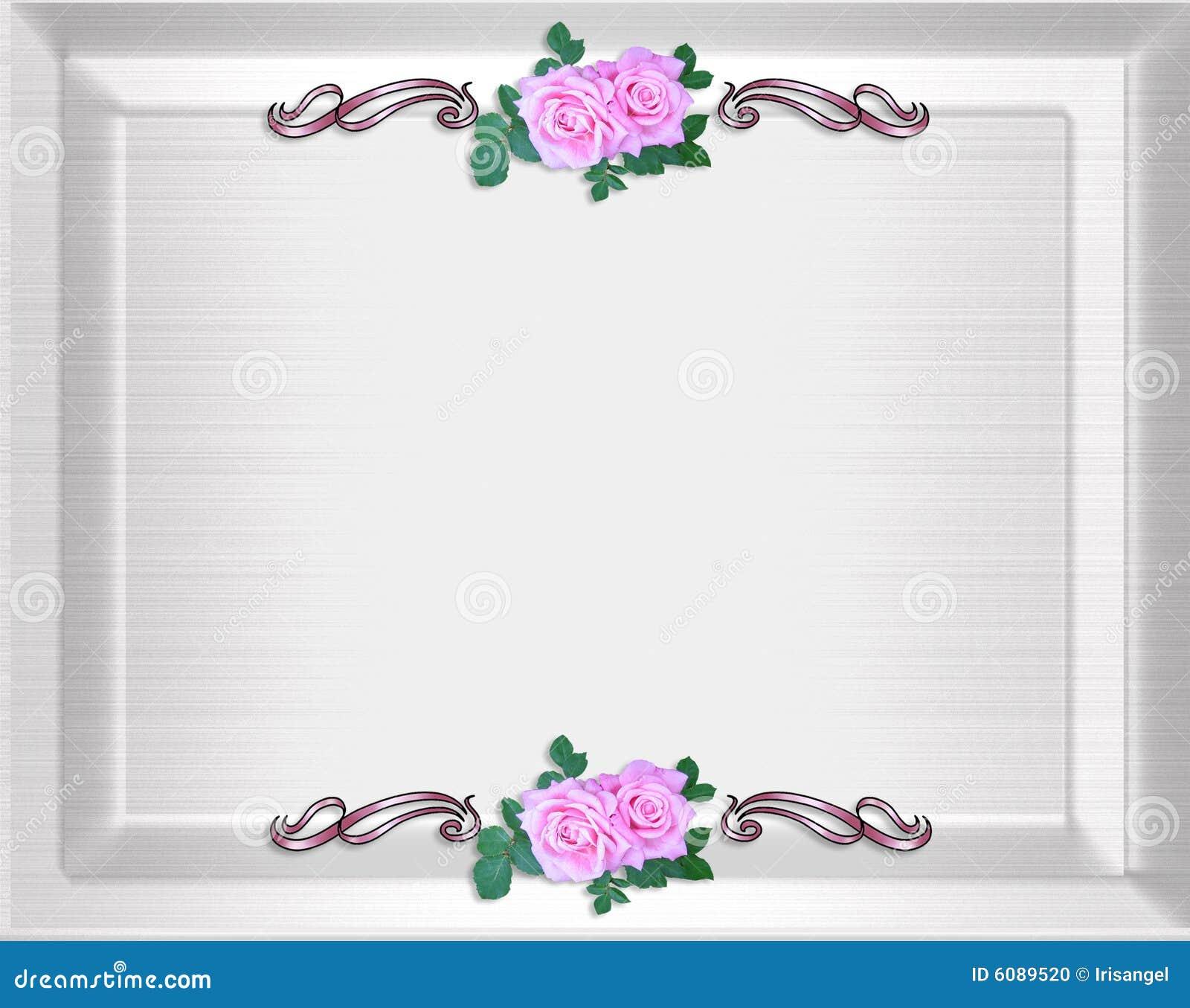 Border For Invitation Card Invitation Wedding Border: Roses Border Wedding Invitation Stock Photo
