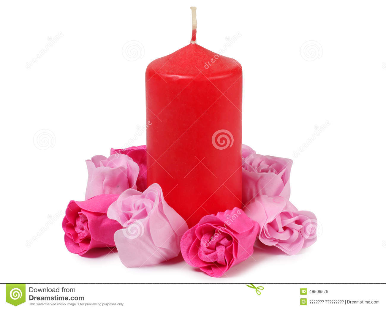 red candle white background - photo #37