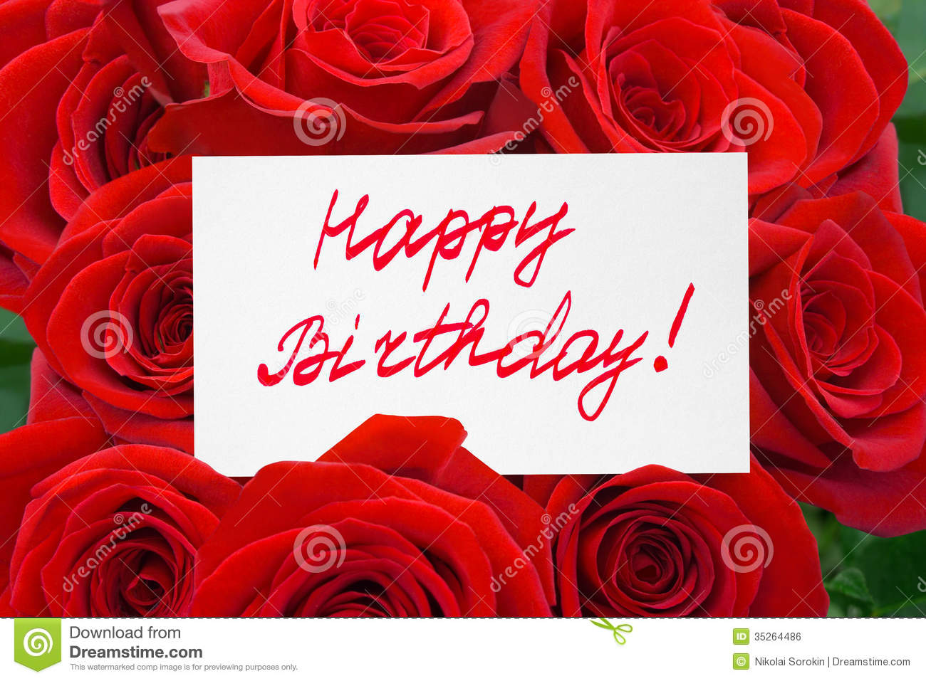 Roses and card happy birthday royalty free stock image image