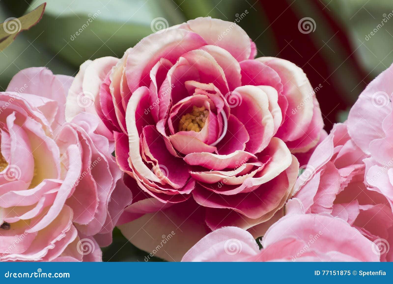 Roses de tissu de métier