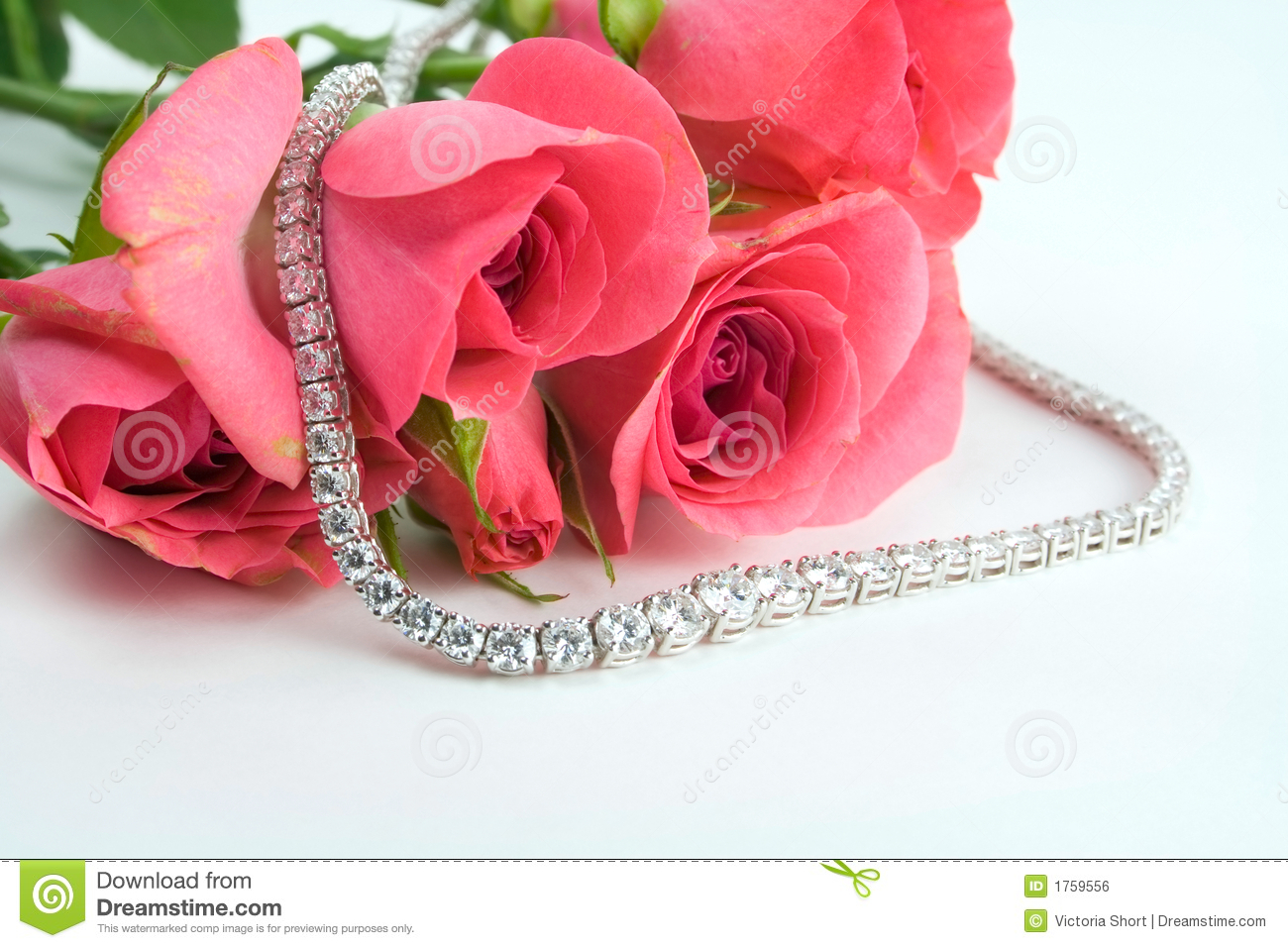 Roses And Diamonds Royalty Free Stock Image Image 1759556