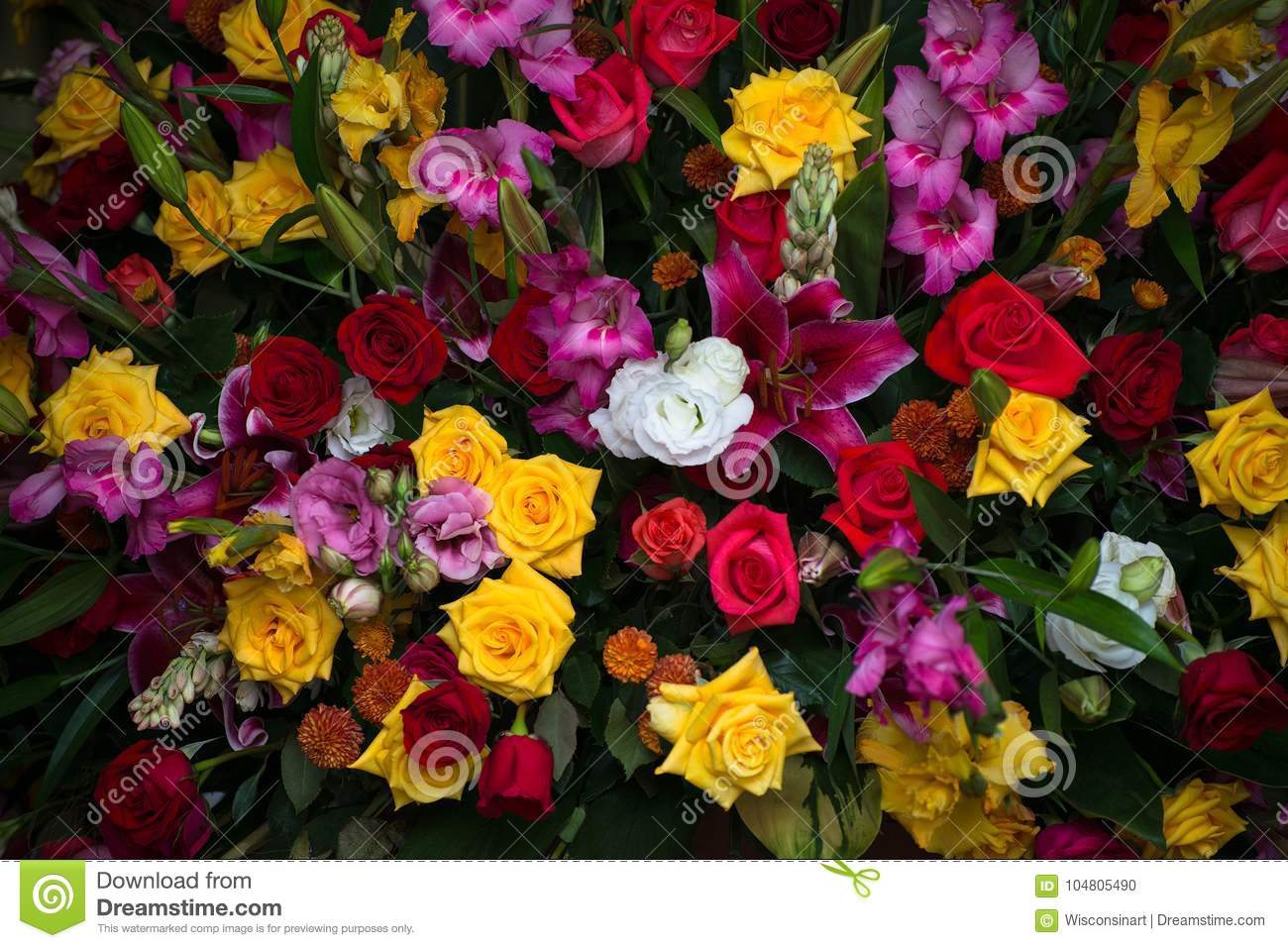 Roses Flowers Bouquet Flower Background Stock Photo Image Of
