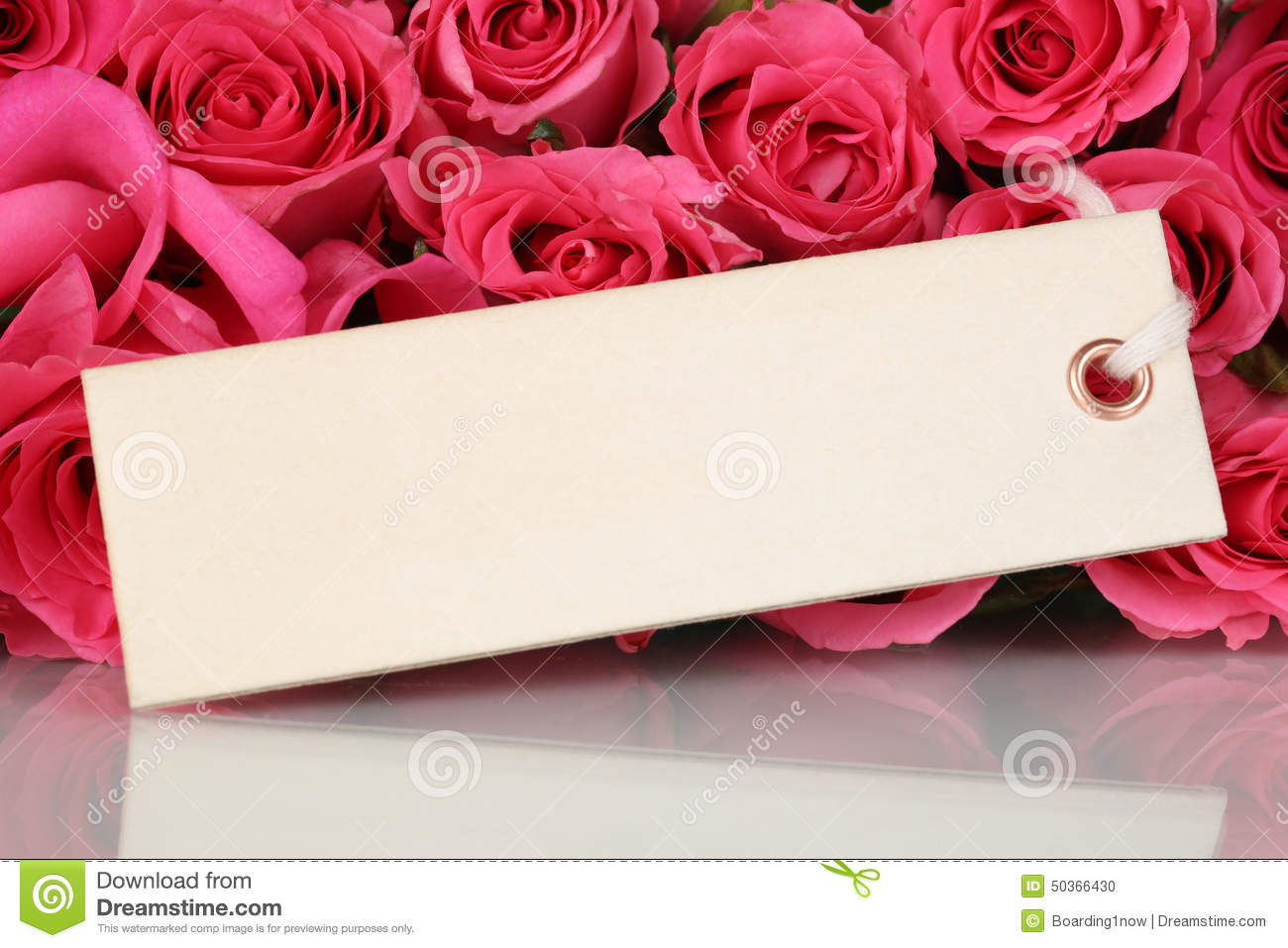 Roses Flowers On Valentines Or Mothers Day With Greeting Card – Flower Valentine Card