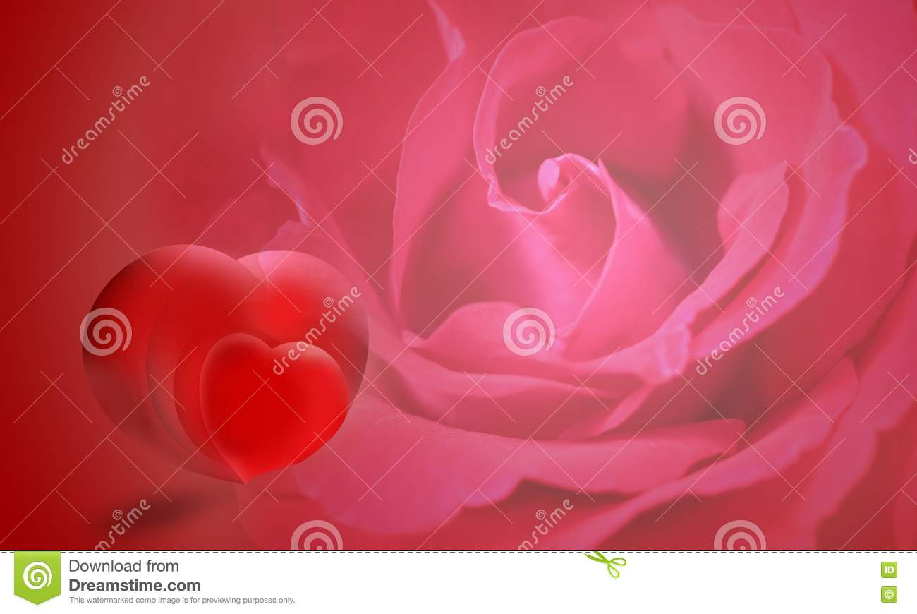heart and roses background - photo #27
