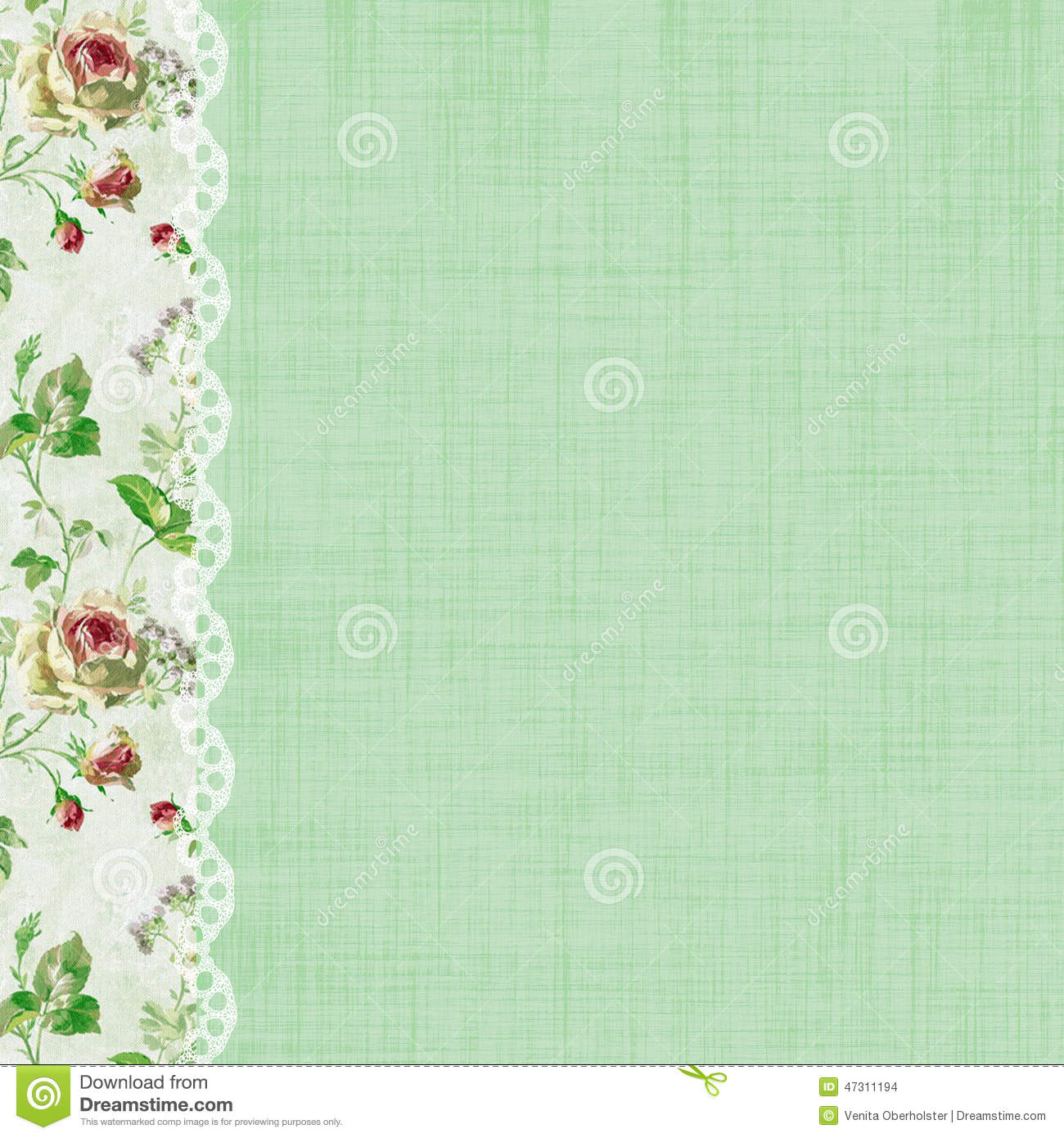 Green Scrapbook Backgrounds