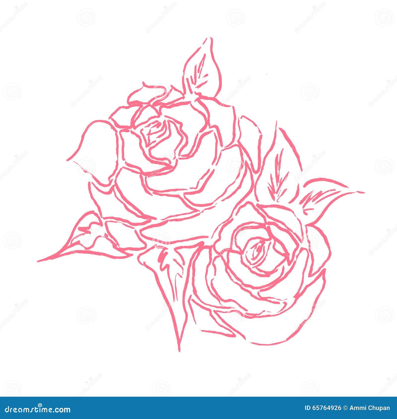 Roses wedding card theme stock photo - Dessin de rose rouge ...