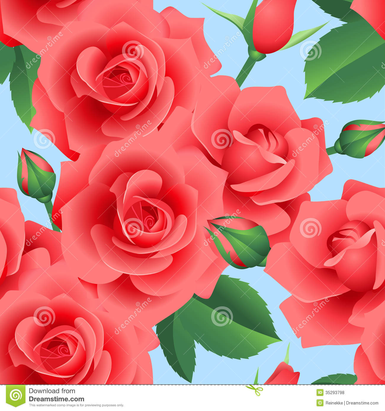 Floral Roses Red roses. floral seamless   1300 x 1390 jpeg 181kB