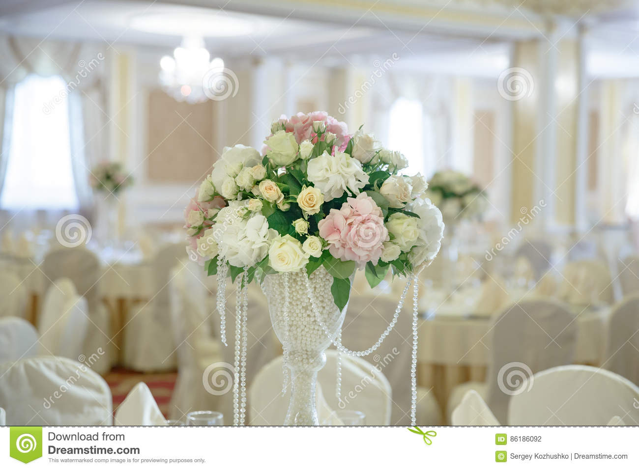 Roses peony flower arrangement white gold color decoration stock download comp mightylinksfo